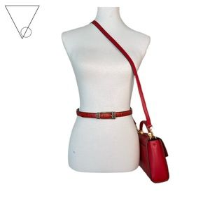 Red Leather Brighton Belt 💋